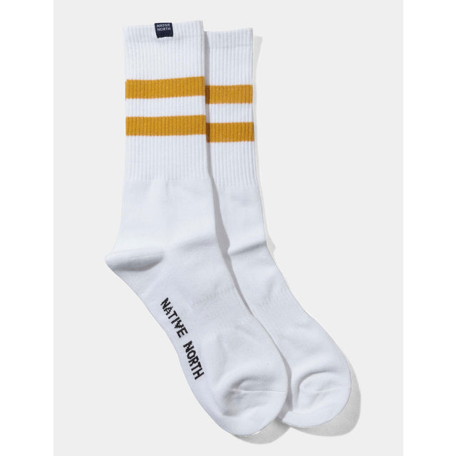 Striped Socks - White/Orange