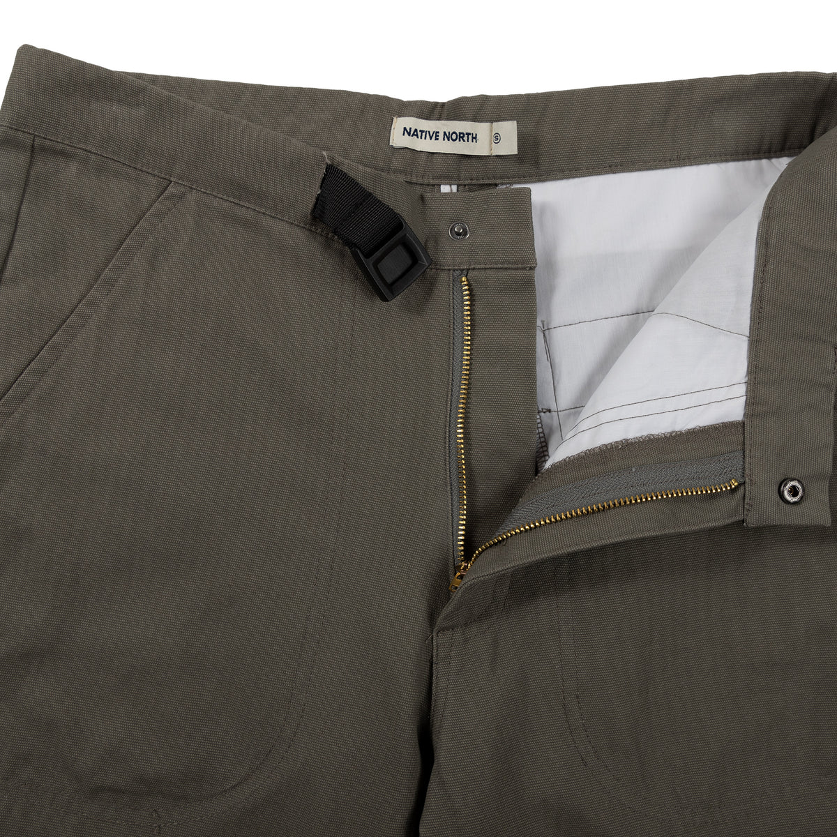 Native North Toro Canvas Pant Bottoms Olive Detail