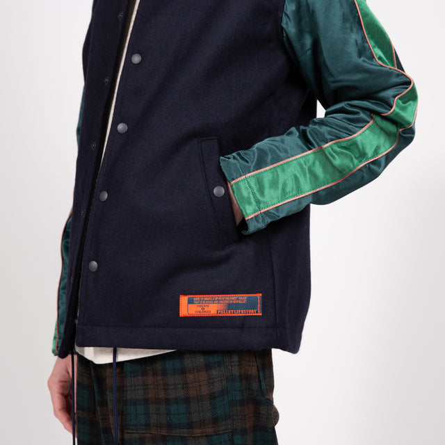 Award Jacket - Navy & Green