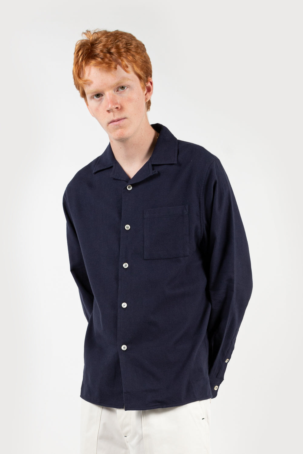 reception bowling ls shirt in dark navy