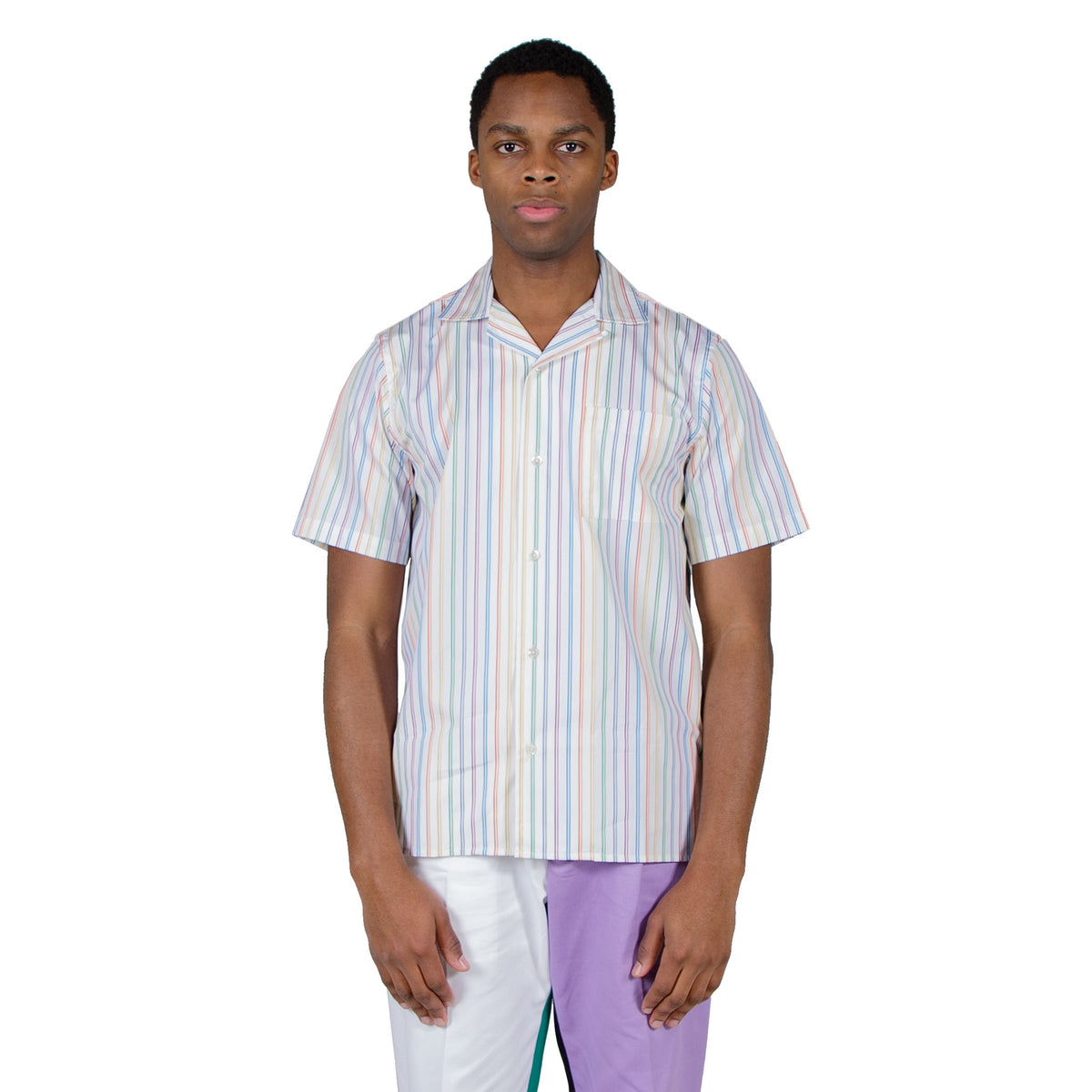 shop Reception shirt online bowling short sleeve multicolor stripes