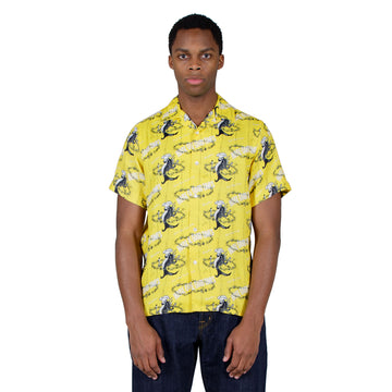 shop Reception shirt online bowling short sleeve yellow print