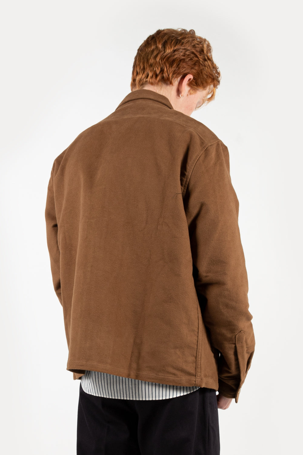 reception club jacket in tan