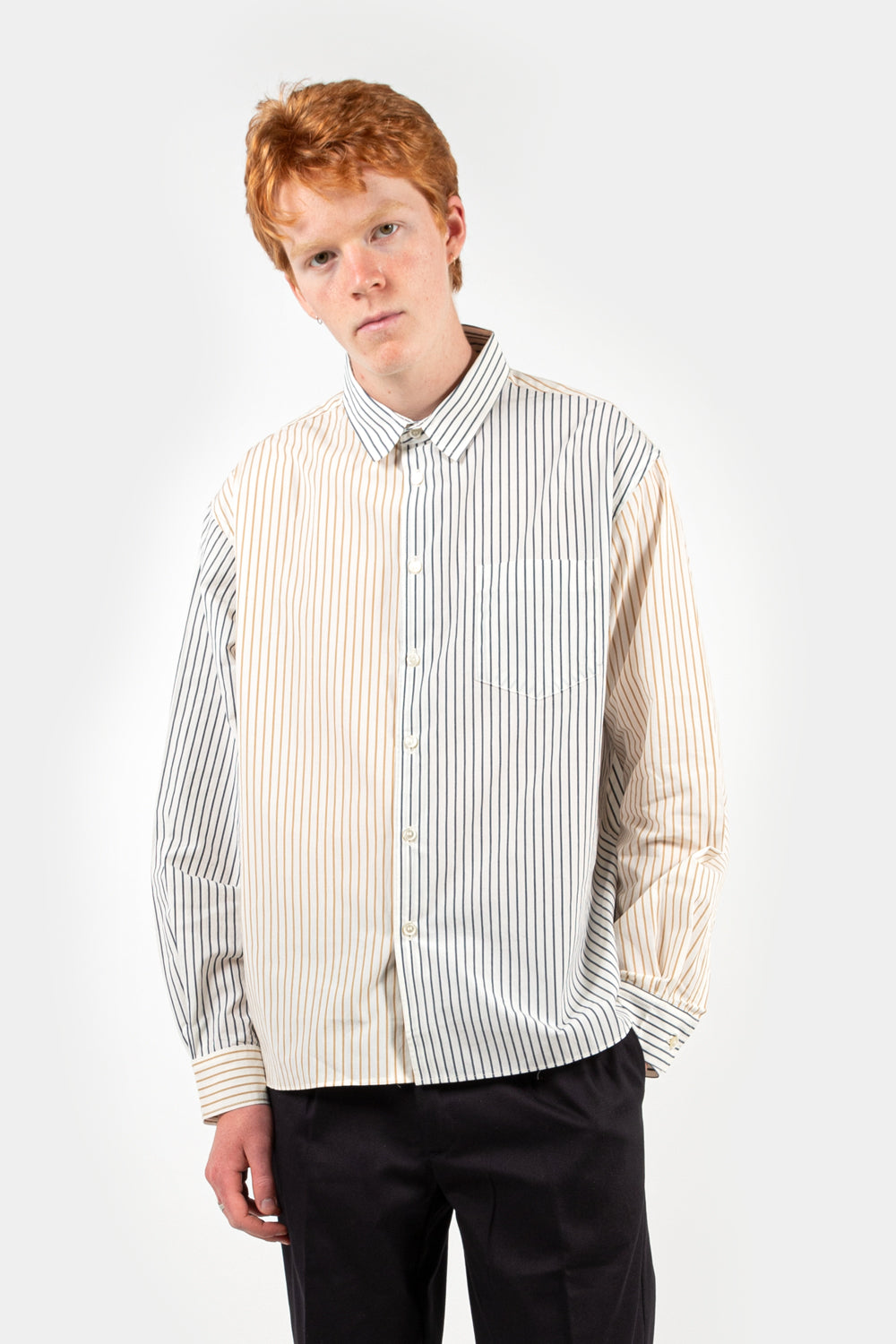 reception loose financial shirt in multicolor
