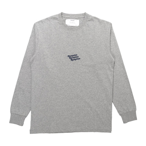reception irony is grey marl long sleeve tshirt