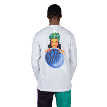 shop Reception t-shirt online long sleeve chez ZA Tee White