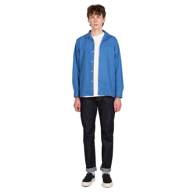 Reception SC Bowling Shirt Soul Education Milky Blue