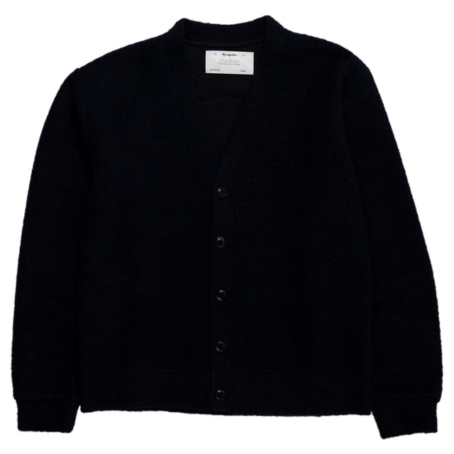 Reception SC Wool Mix Cardigan Navy Back