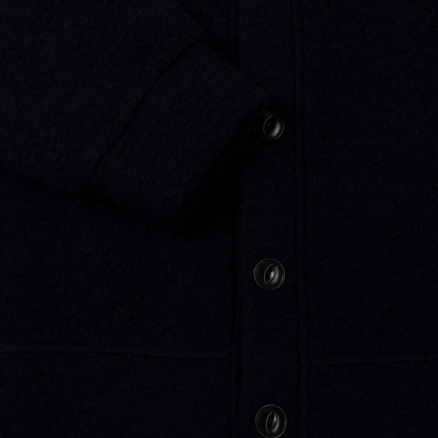 Reception SC Wool Mix Cardigan Navy Button Up