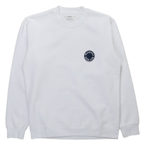 Reception SC Classic Sweat Sweater Sweatshirt White Front