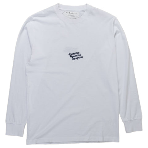 Reception SC Long Sleeve Shirt Irony LS Tee White Front