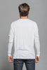 Long Sleeve Crew Pocket Tee - White