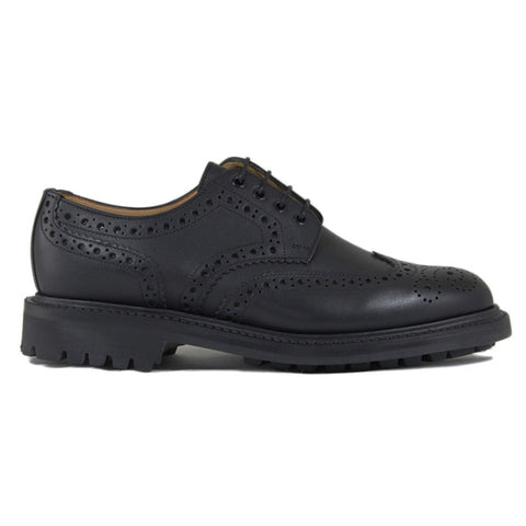 Sanders Salisbury Gibson Brogue Shoe in Black