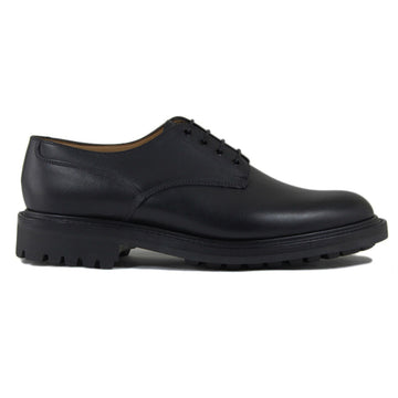 Sanders Worcester Gibson Derby Shoe Leather Footwear in Black Side