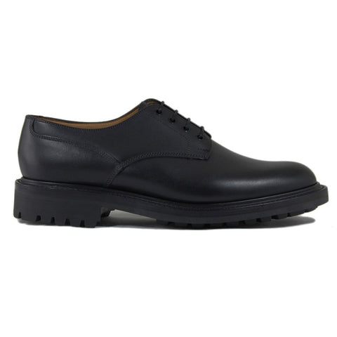 Sanders Worcester Gibson Derby Shoe in Black