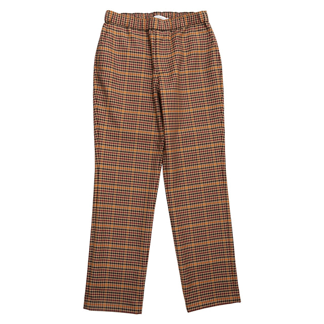 Trousers Overcheck - Black/Beige/Burgundy/Orange