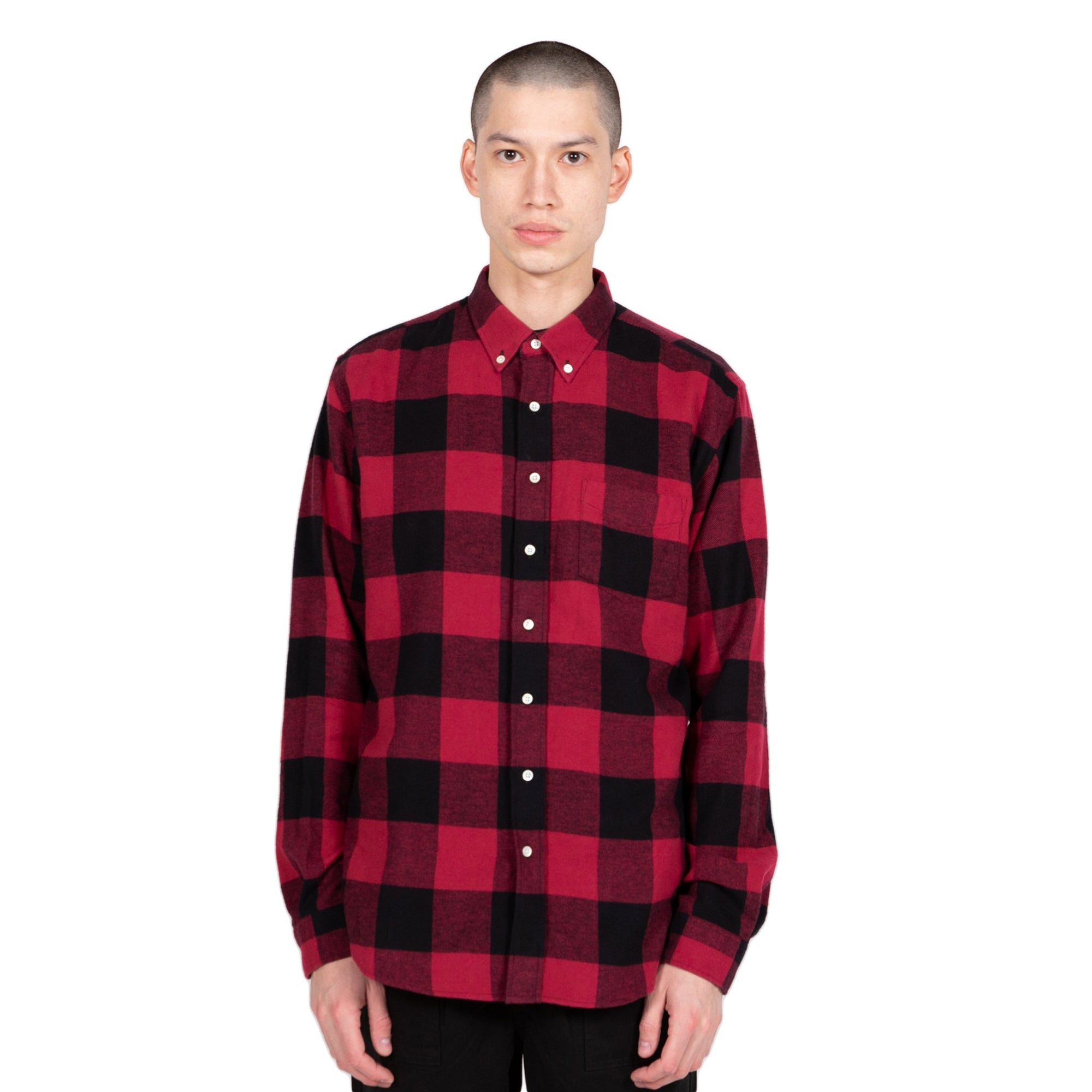 schnaydermans Shirt Twill Flannel button up front