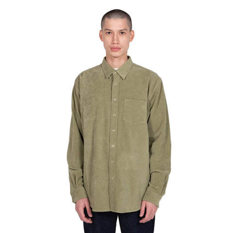 Shirt Button Under Moleskin - Olive