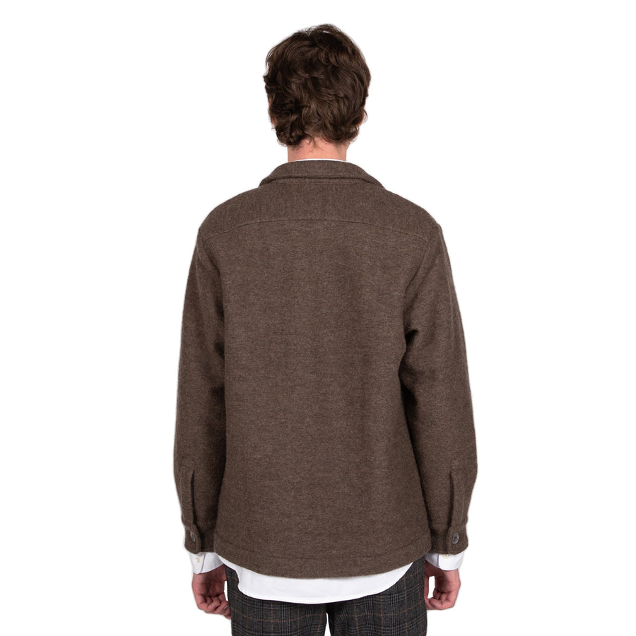 schnaydermans overshirt virgin wool walnut