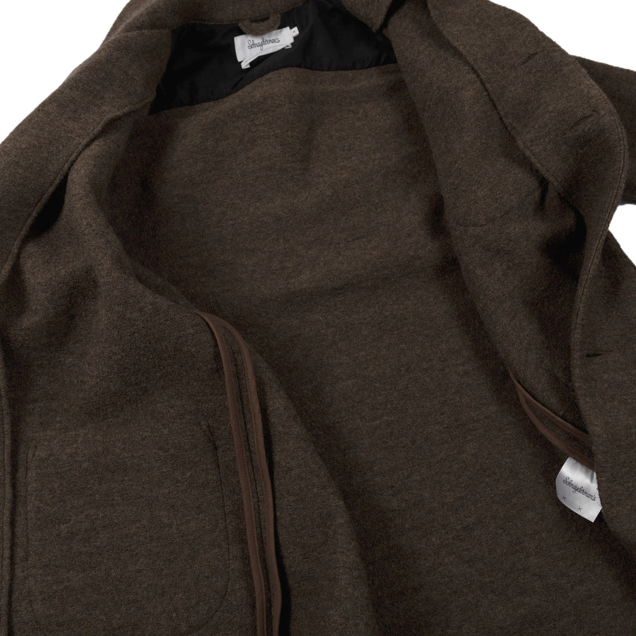 schnaydermans overshirt virgin wool walnut inside