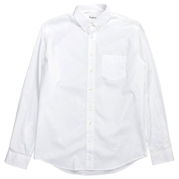 schnaydermans Shirt Poplin One White button up