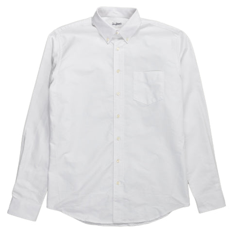 schnaydermans Shirt Oxford One button up white front