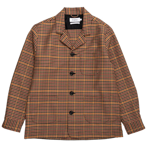 Overshirt Notch Overcheck - Black/Beige/Burgundy/Orange