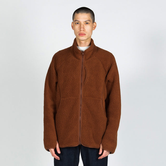 Snow Peak Classic Fleece Jacket in Orange