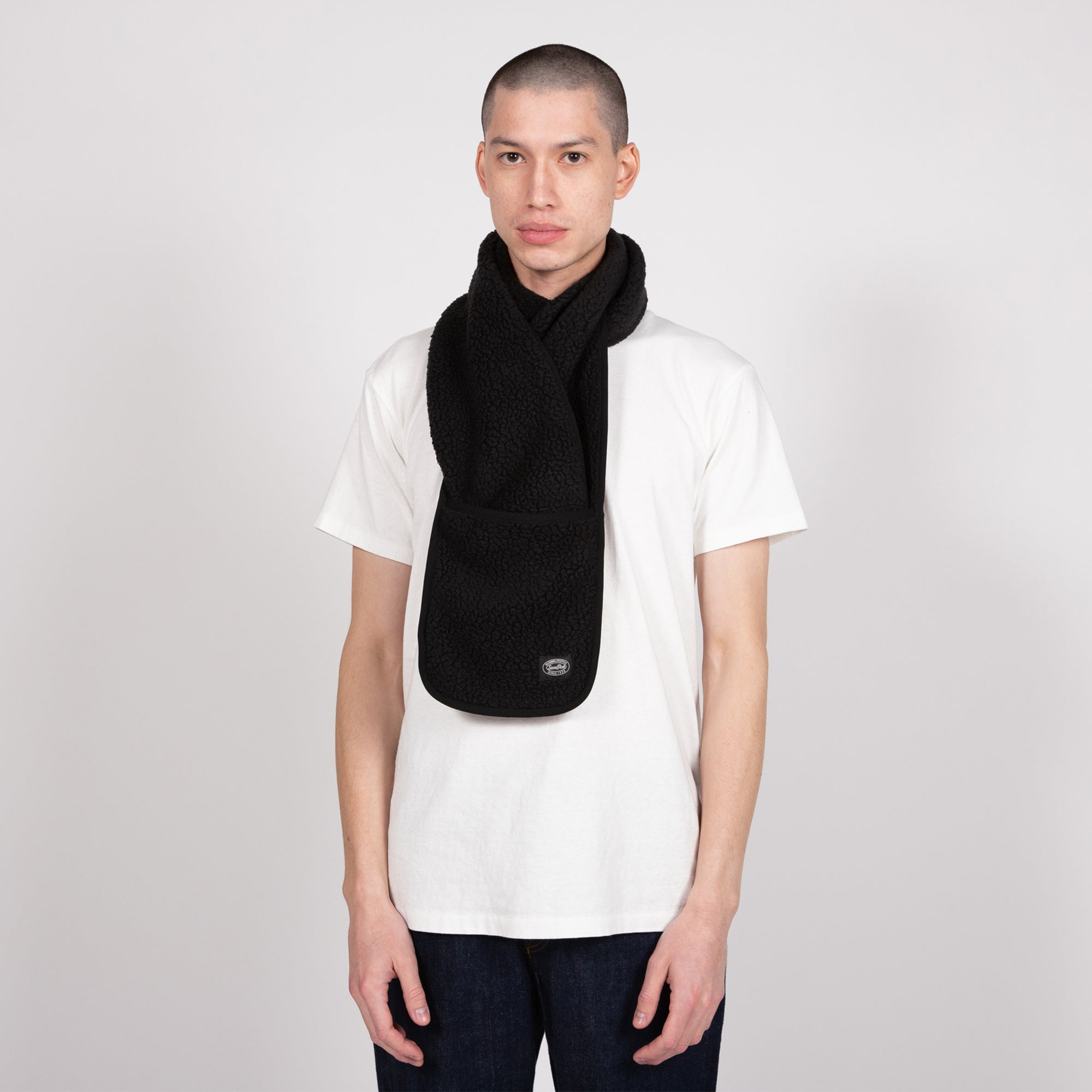 shop snow peak scarf scarves online black fleece