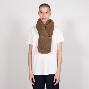 shop snow peak scarf scarves online brown khaki fleece