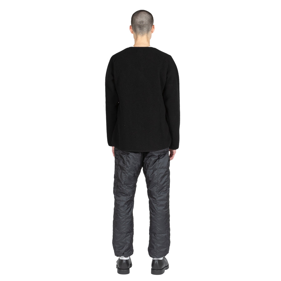 snowpeak recycled middle down pant black