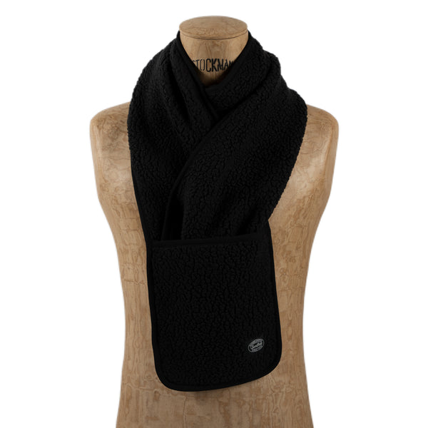 Snow Peak Classic Fleece Stole Black Scarf Neck Warmer