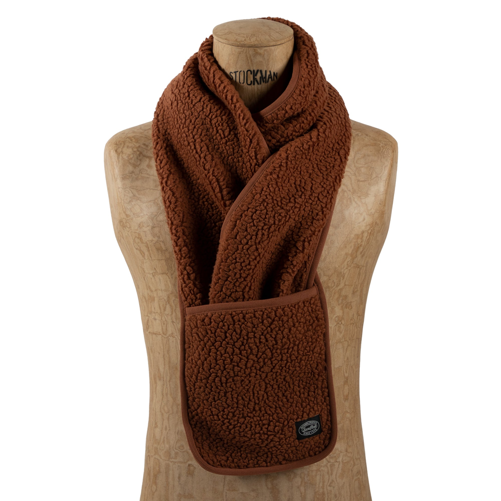 shop snow peak scarf scarves online orange fleece