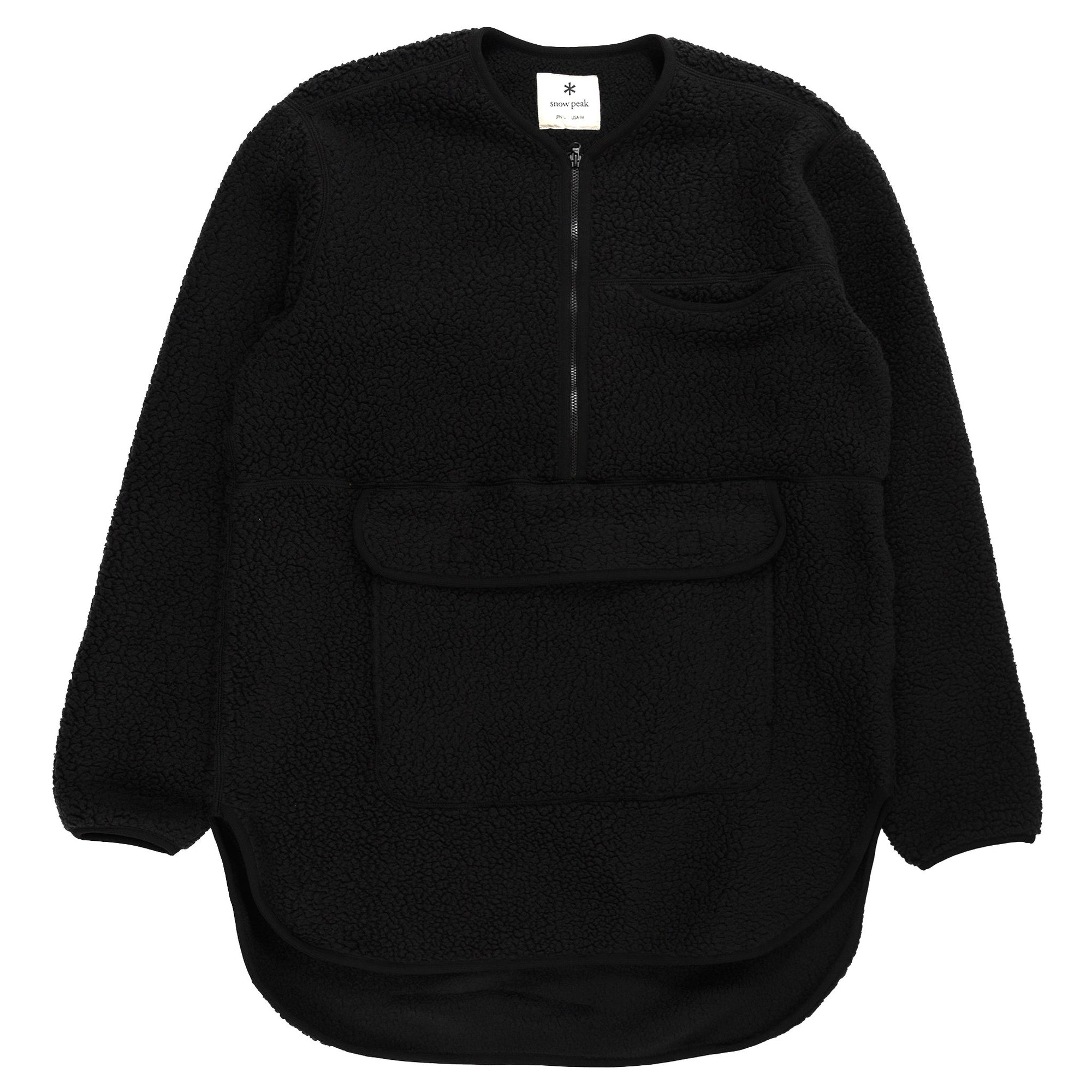 Snow Peak Classic Fleece Pullover in Black
