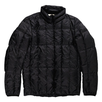snowpeak recycled middle down packable jacket black