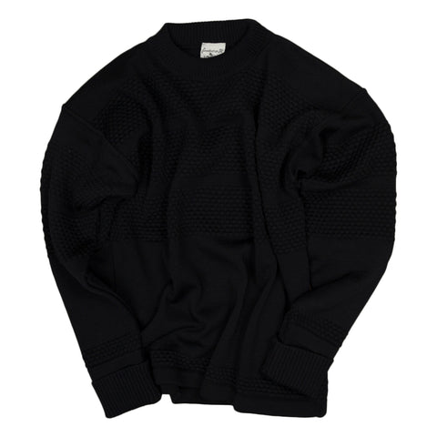 Fisherman Crewneck Sweater - Navy