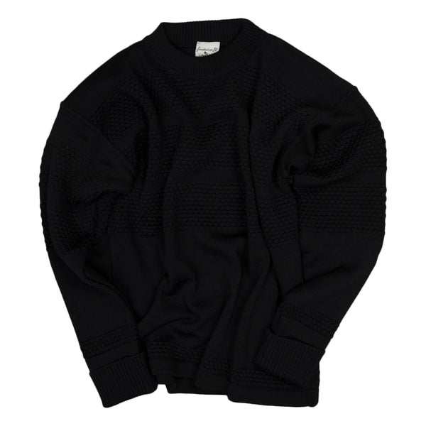 S.N.S. Herning Fisherman Crewneck Sweater in Navy
