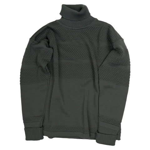Fisherman Turtleneck Sweater - Grey Absolute