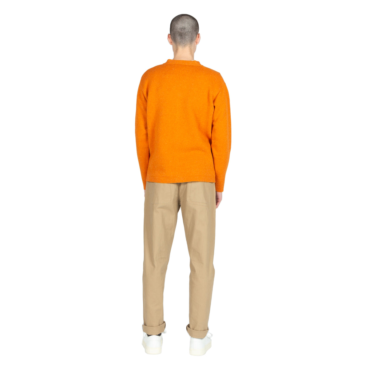 The English Difference Cardigan in Orange by Garbstore