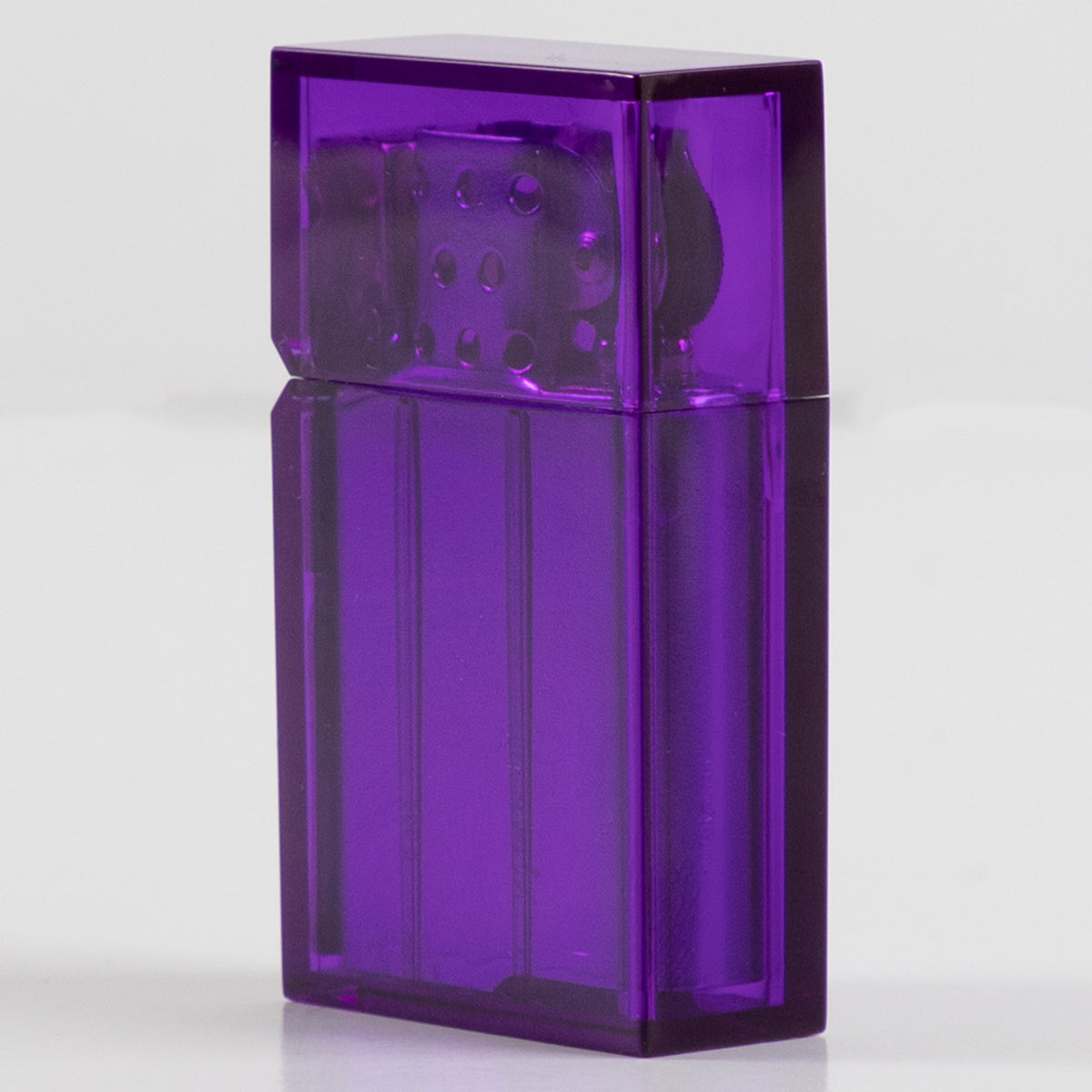Hard Edge Lighter - Clear Purple