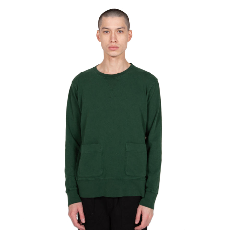 velva sheen heavy pigment crewneck sweatshirt green sweater