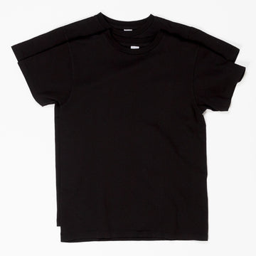 2 Pack Crewneck Plain Tee - Black
