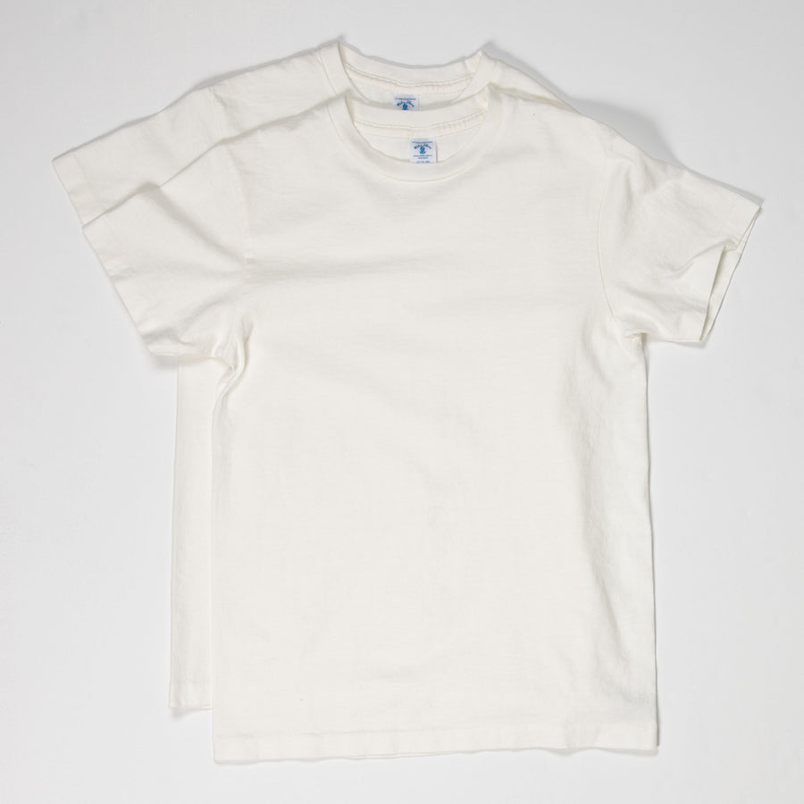 2 Pack Crewneck Plain Tee - White