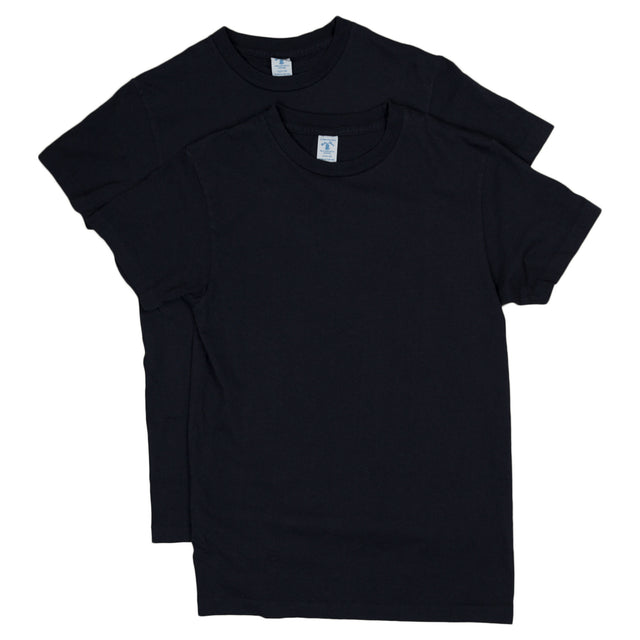 2 Pack Crewneck Plain Tee - Navy Blue