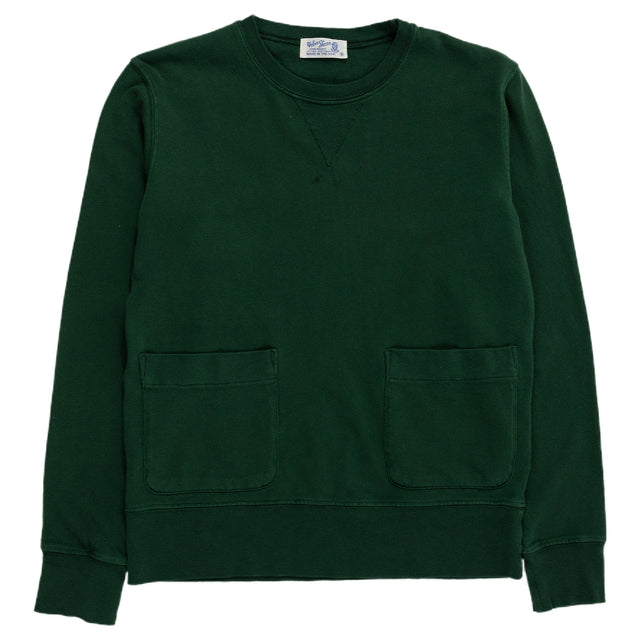 velva sheen heavy pigment crewneck sweatshirt green