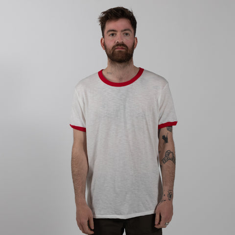 Ringer T-Shirt - White/Red