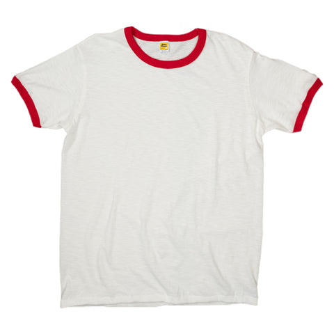 Velva Sheen Ringer Tee in Red White