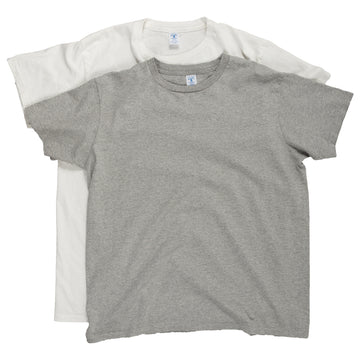 Velva Sheen Crewneck Tee Shirt T-Shirt Two Pack White Grey