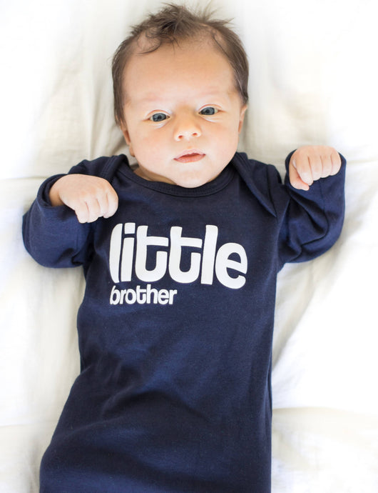 Little Brother Sleep Sack, Screen Printed Little Brother Panamas, Baby PJs