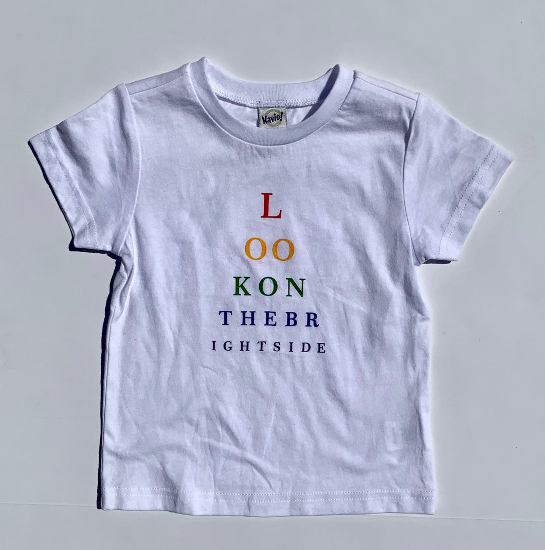Look on the Bright Side Tee in Rainbow for Children